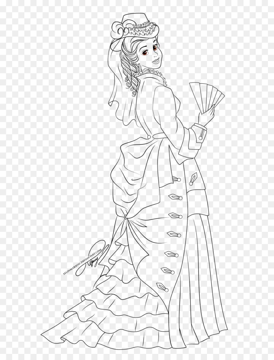 Belle Rapunzel Fa Mulan de Disney de la Princesa de arte de Línea ...