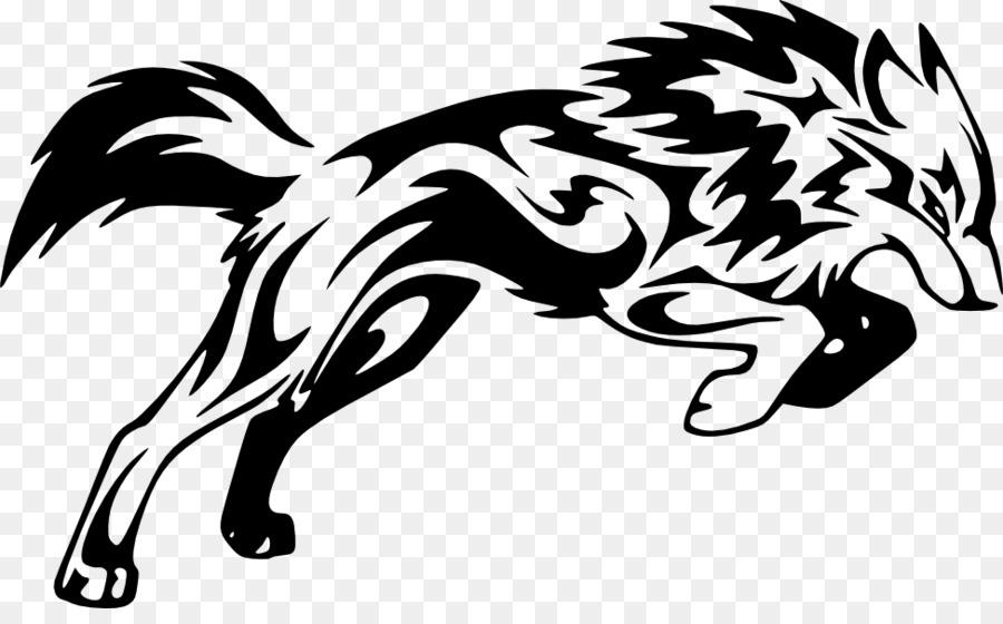 Lobo Gris Tatuaje Coyote Tribu Clip Art Tribus Png Dibujo