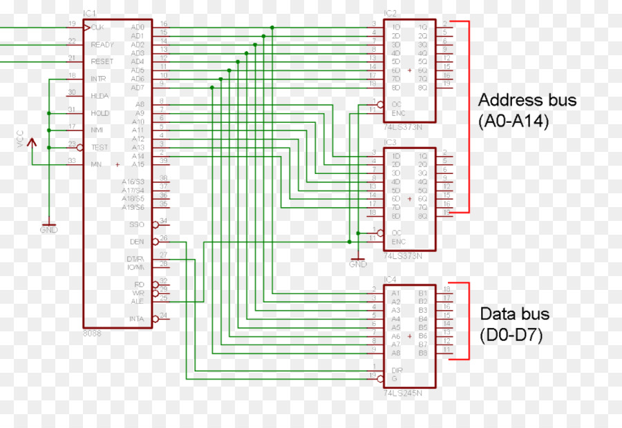 Circuit Diagram Intel 8088 Intel 8086 Schematic Wire Tower Png