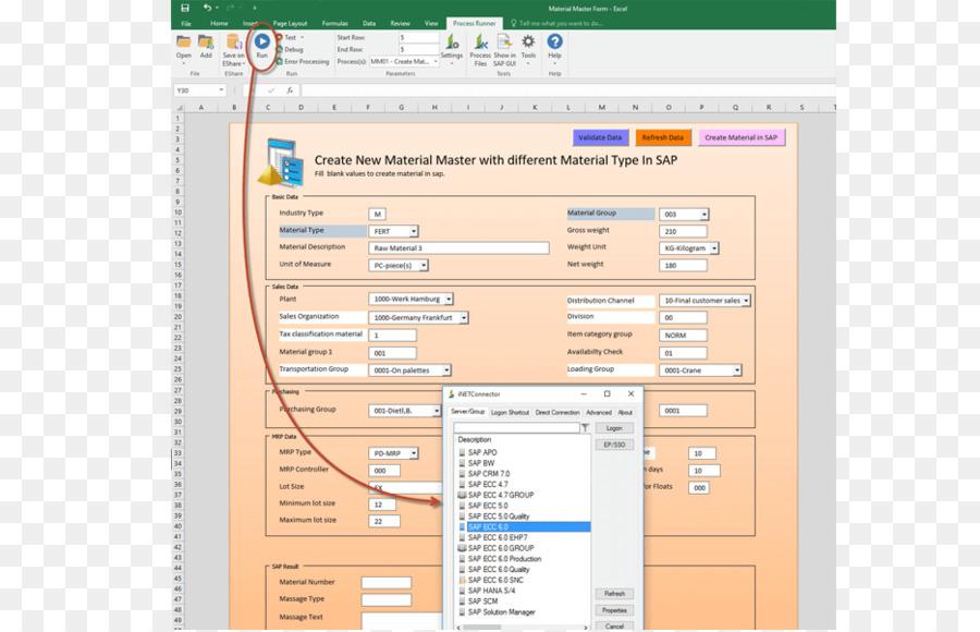 SAP ERP Materials Management Computer Software Form Template Sap - Erp requirements template