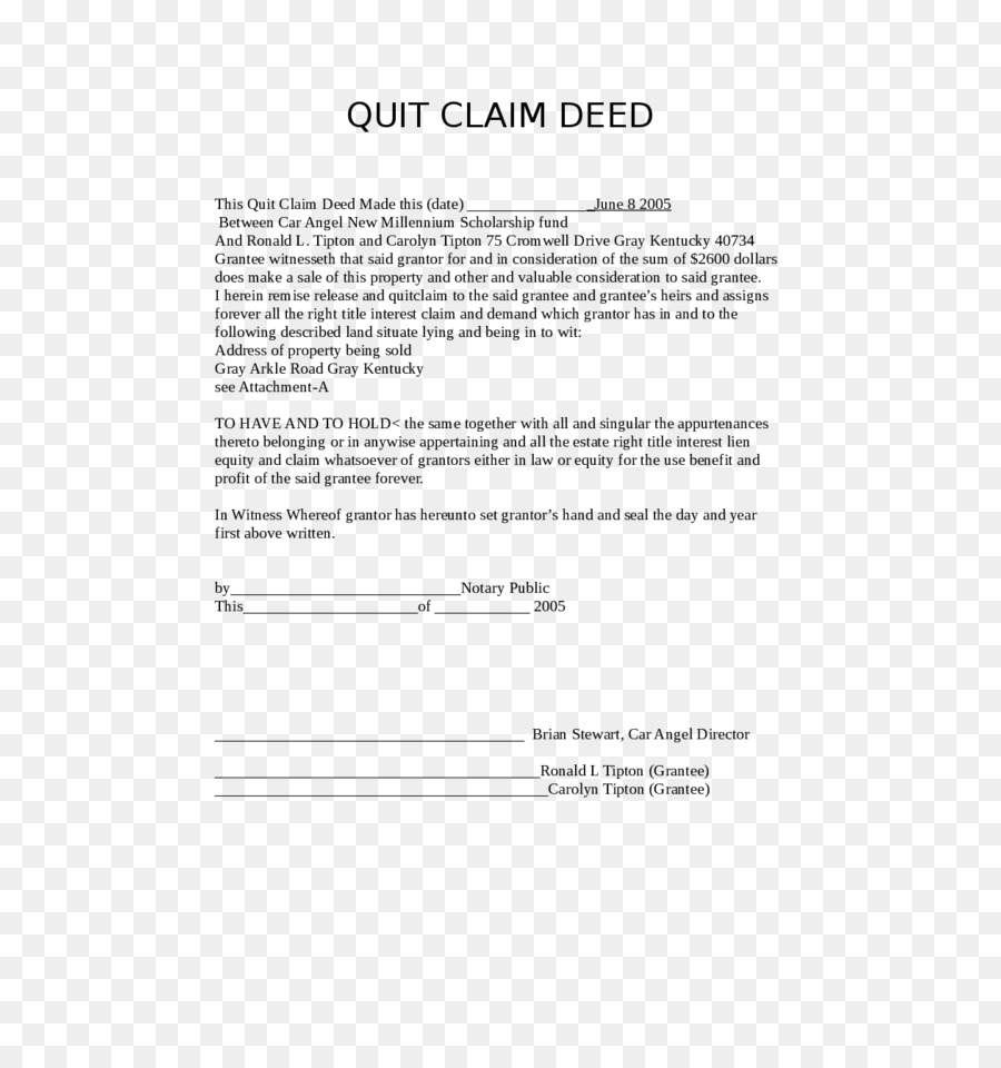 Quit Claim Deed Form | Quitclaim Deed Form Document Title Deeds Png Download 728 943