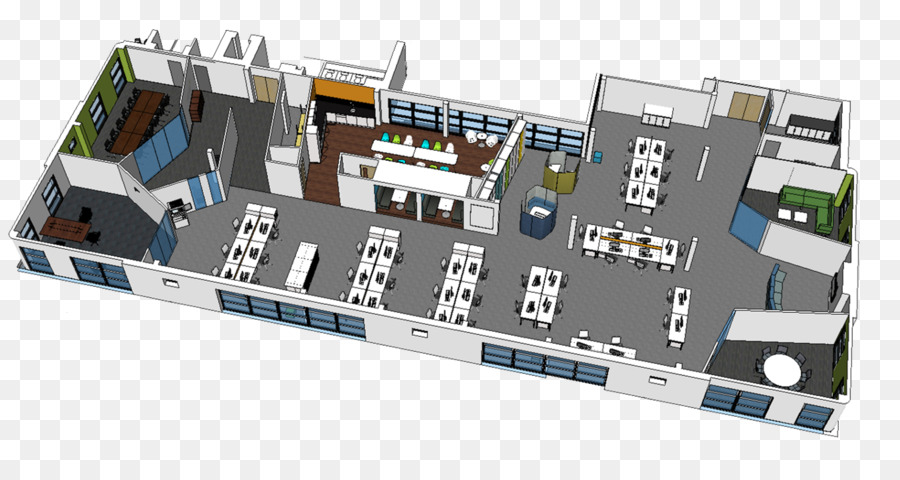 Office 3D Floor Plan   Best Layout Design Png Download   1342*688   Free  Transparent Office Png Download.