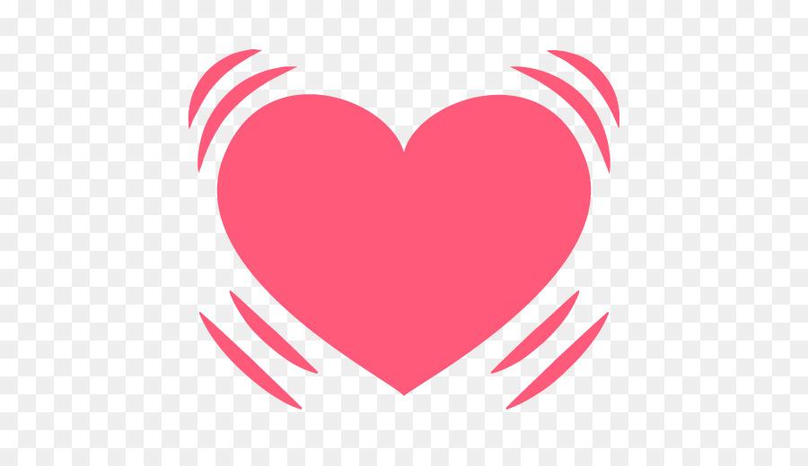 Emoji Heart Symbol Sms Emoticon Heart Beat Png Download 512512