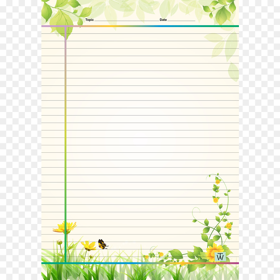 Floral Border Design Png Download 750 900 Free Transparent Paper