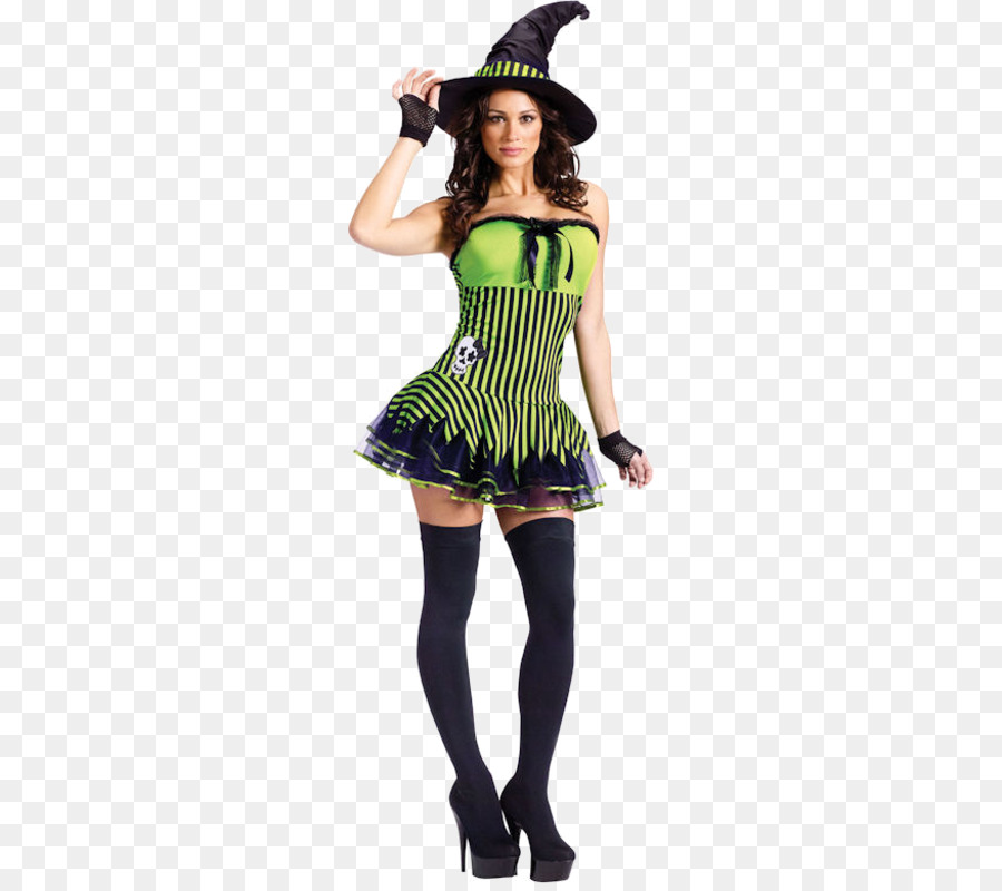 feb80dad80d6c Halloween costume Witchcraft Dress - striped stockings png download ...