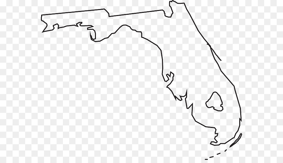 Florida Map Blank.Florida Blank Map Vector Map Clip Art Triangle Mosaic Png Download