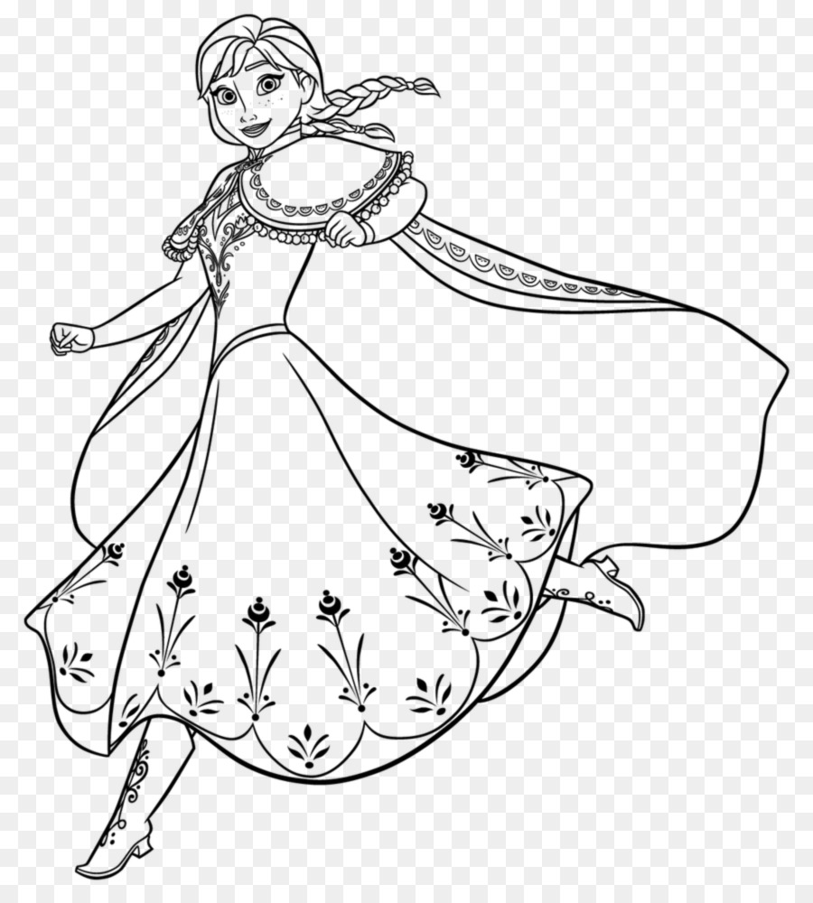 Anna Elsa Rapunzel Coloring book Princess Aurora - fare png download ...