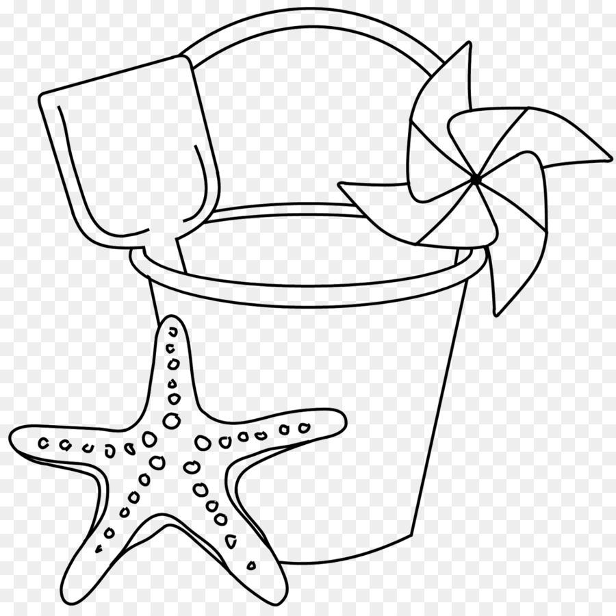 Sand Beach Bucket Drawing Clip Art