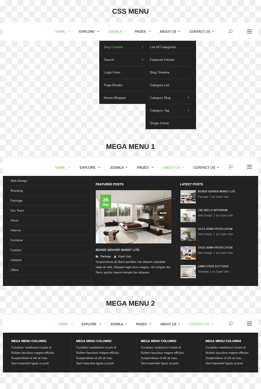 Responsive Web Design Template Menu Cascading Style Sheets Joomla
