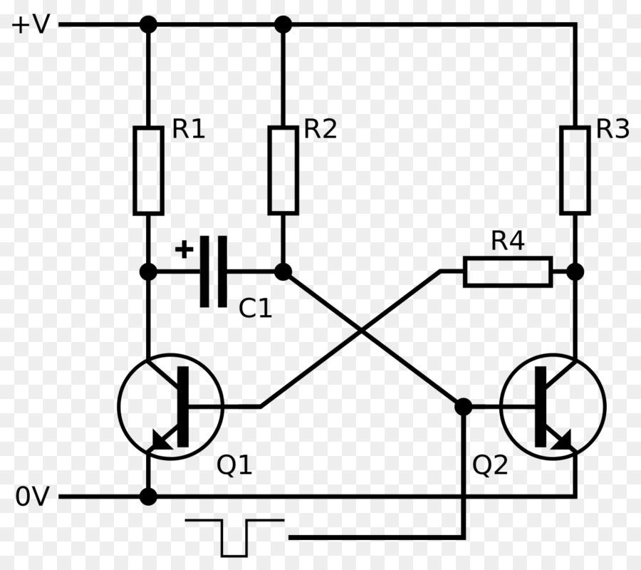 Astabil Multivibrator Monostable Transistor Electronic Circuit
