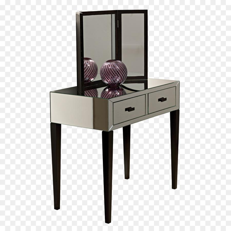 Table Bedroom Mirror Drawer Vanity Dressing Table Png Download