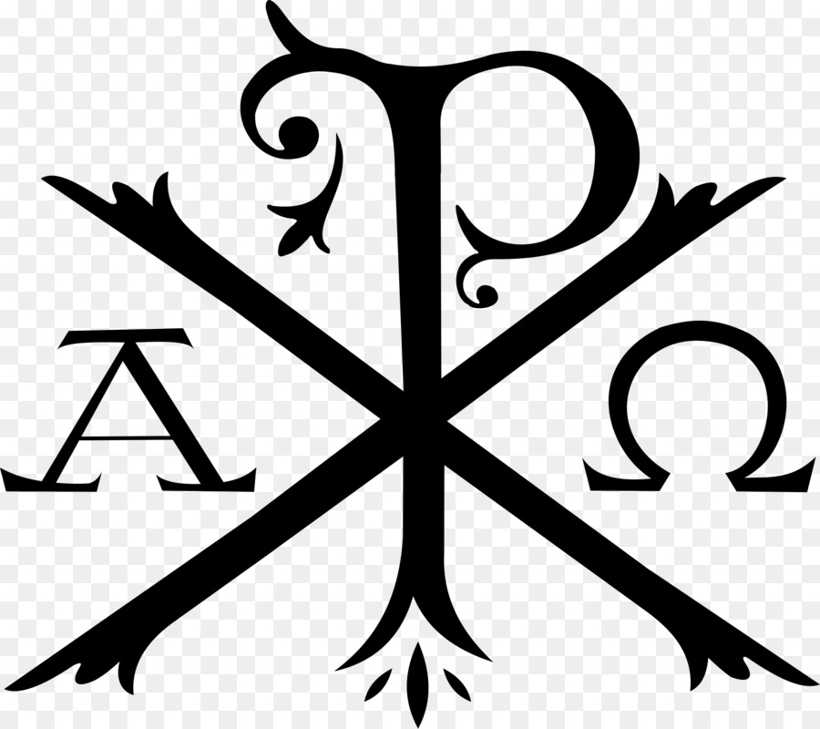 Chi Rho Alpha And Omega Symbol Christianity Chi Png Download