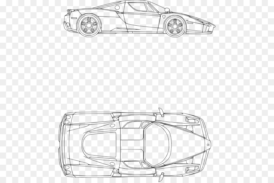 Sports car Ferrari California Blueprint - ferrari clipart png ...