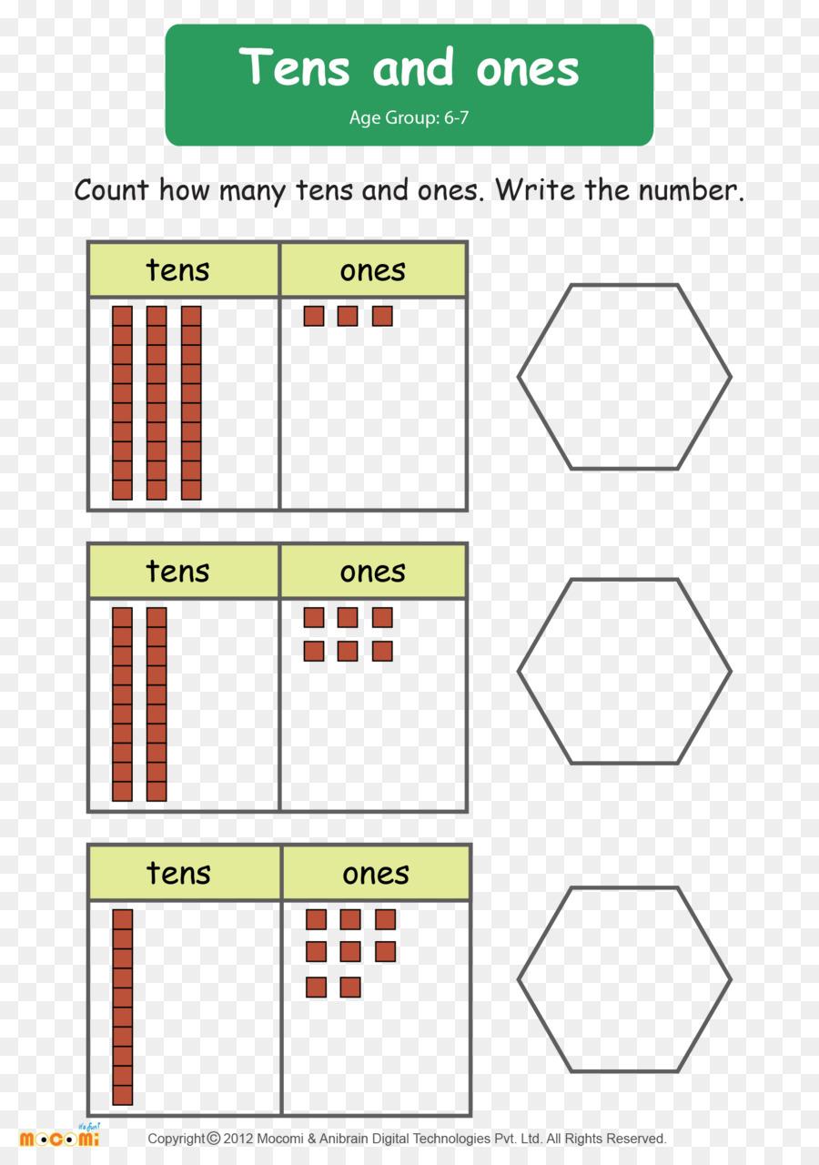 Matemáticas de Primer grado de la Hoja de cálculo dígito Numérico de ...