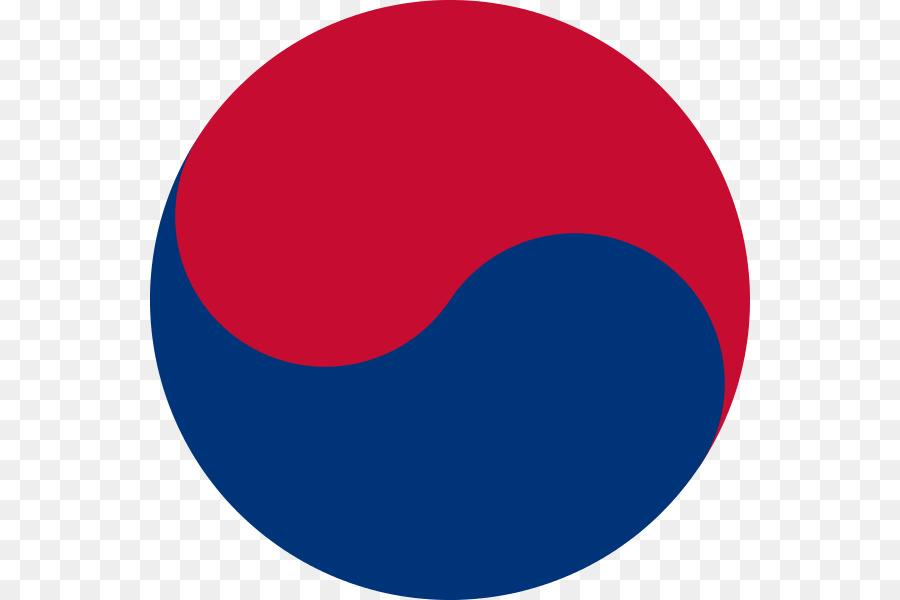 Flag Of South Korea Joseon Yin And Yang Taegeuk Taekwondo Clipart