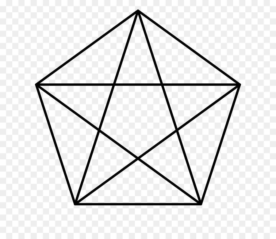 The Pentagon Pentagram Symbol Regular Polygon Golden Five Pointed