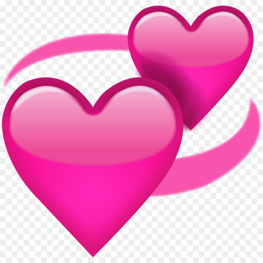 Emoji Heart Symbol Sticker Meaning Romantic Ribbon Png Download