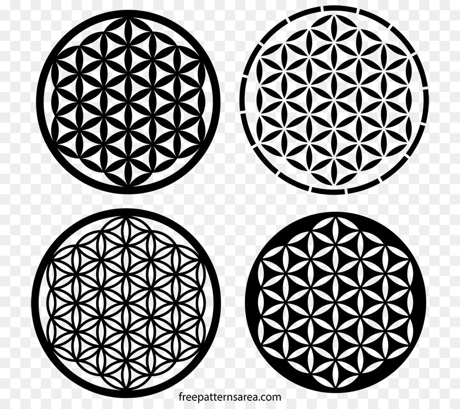 sacred geometry overlapping circles grid tree of life symbol
