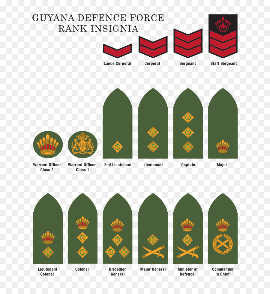 Military Rank Guyana Defence Force United States Army Enlisted Rank