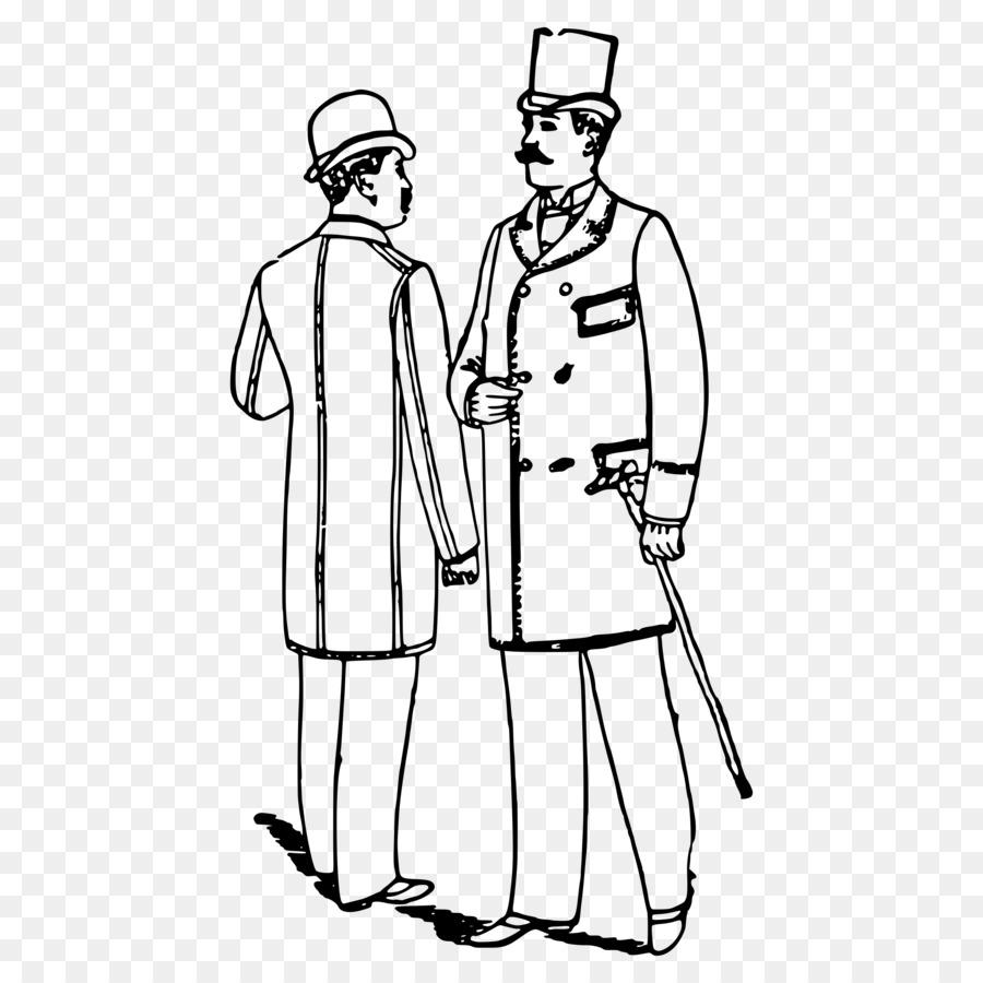 Libro para colorear la Ropa de Dibujo de Caballero de Sombrero ...