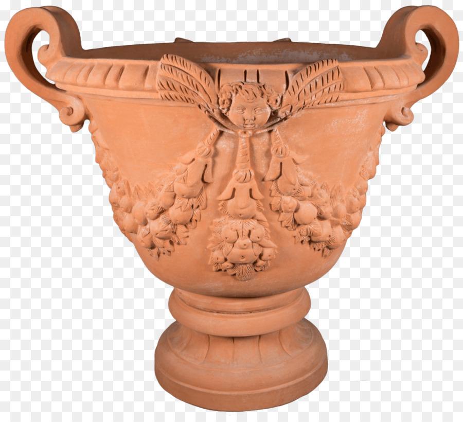 Impruneta Vase Terracotta Ceramic Pottery - red clay pot png ...