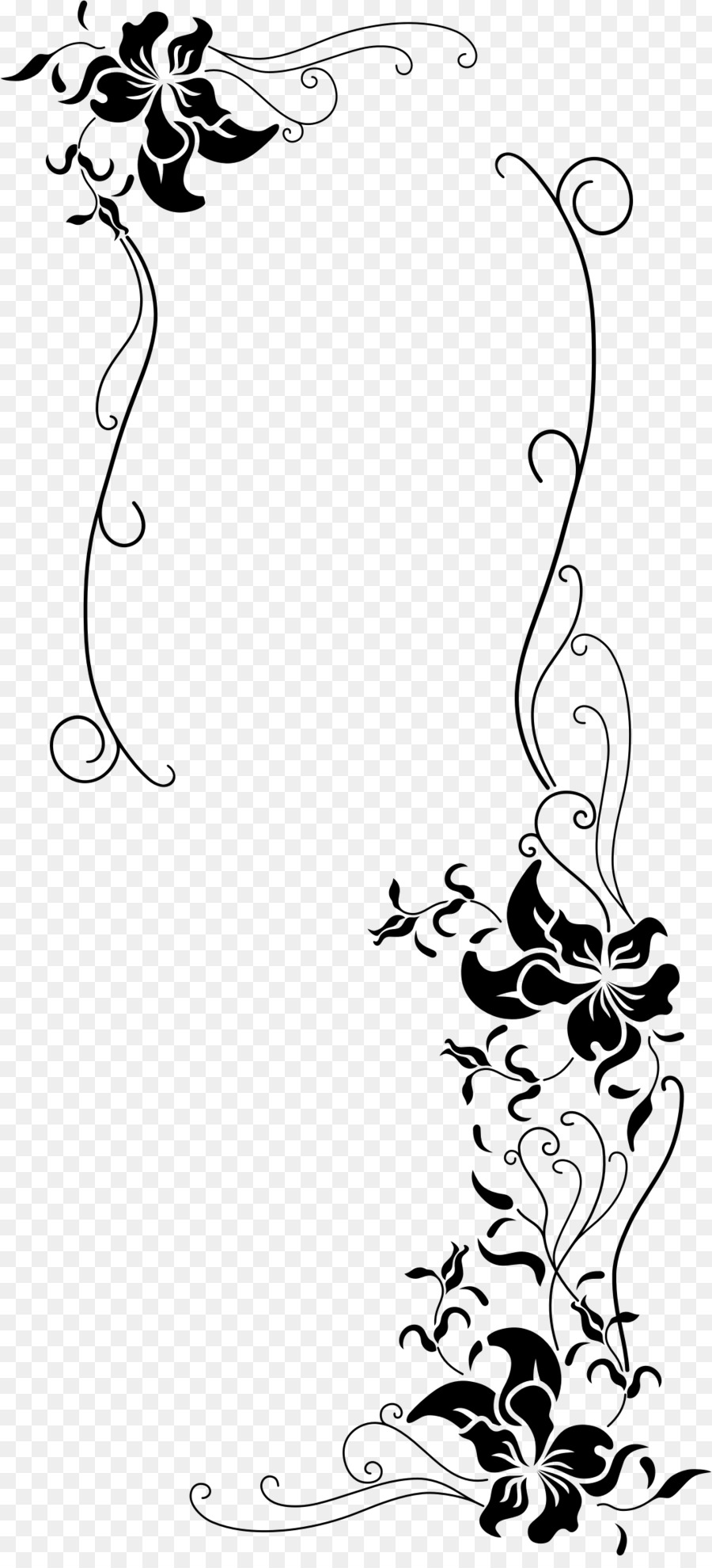 Flower Clip Art Small Fresh Floral Borders Png Download 1072