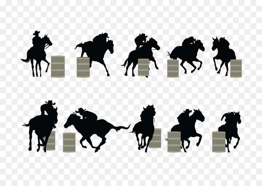 Horse Barrel Racing Silhouette