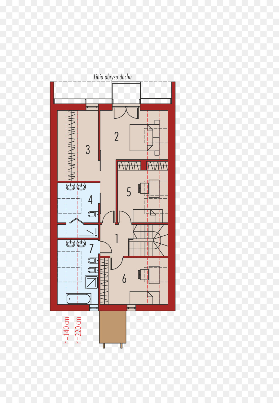 Attic Floor plan House Building Gable roof - plots png download ...
