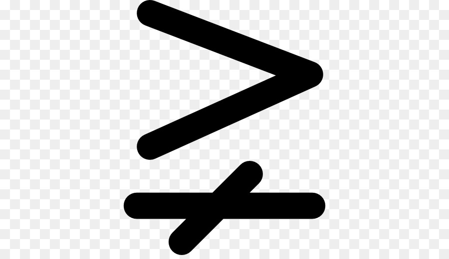Greater Than Sign Equals Sign Mathematics Equality Mathematical