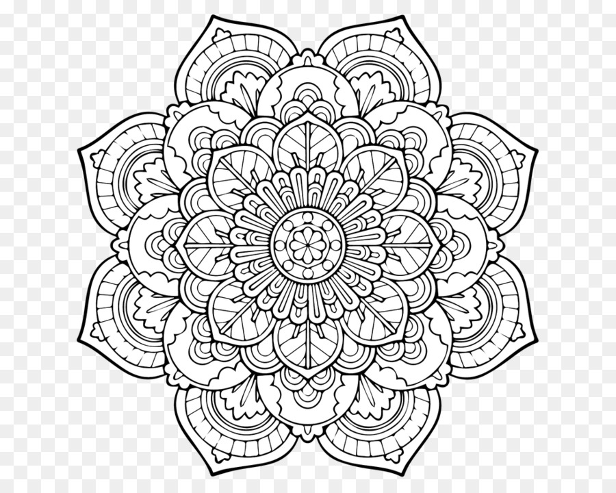 Mandala Coloring Book Adult Page Child