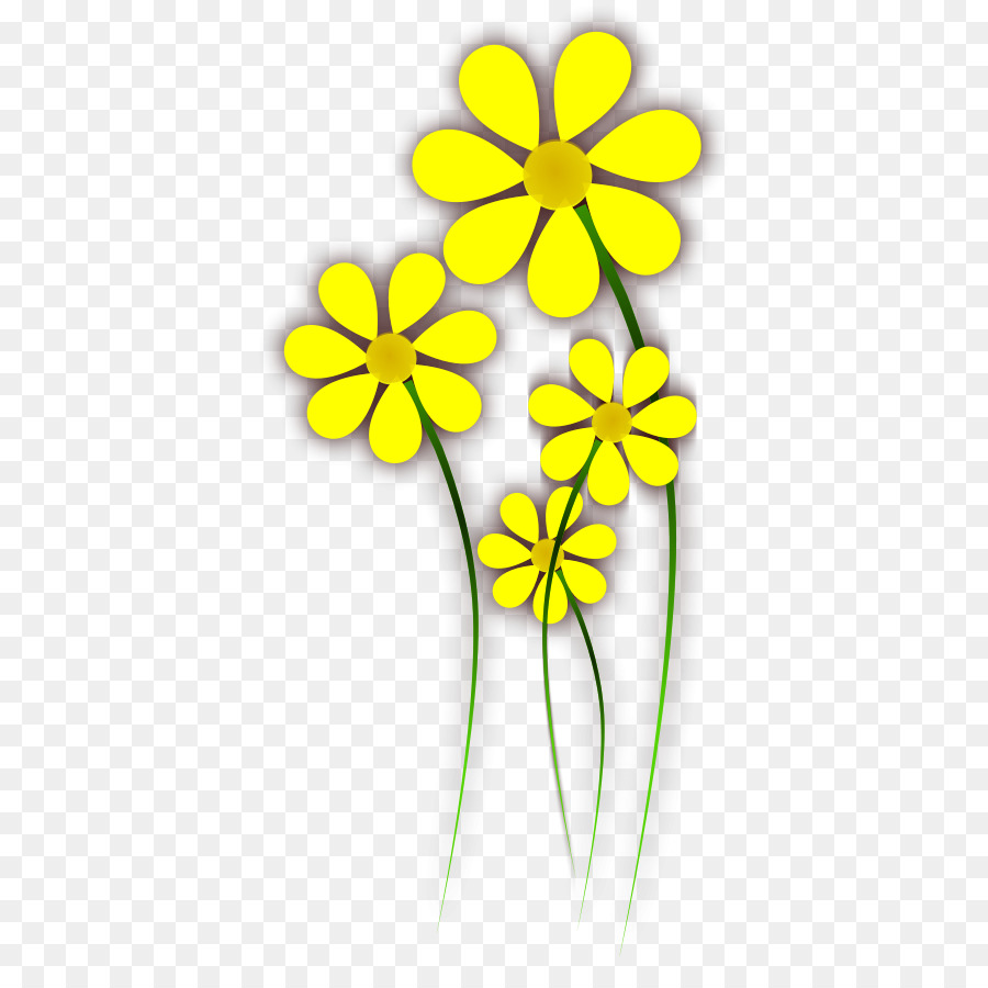Flower Yellow Color Clip Art Flower Png Download 440900 Free