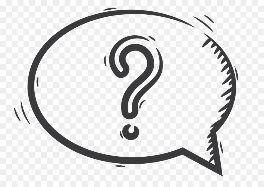 Question Mark Speech Balloon Text Drawing Bubble Hand Painted