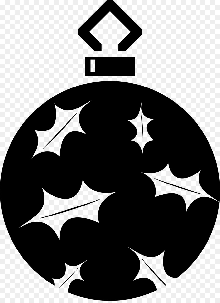 Silhouette Christmas ornament Black and white Clip art - objects vector png download - 1754*2400 ...