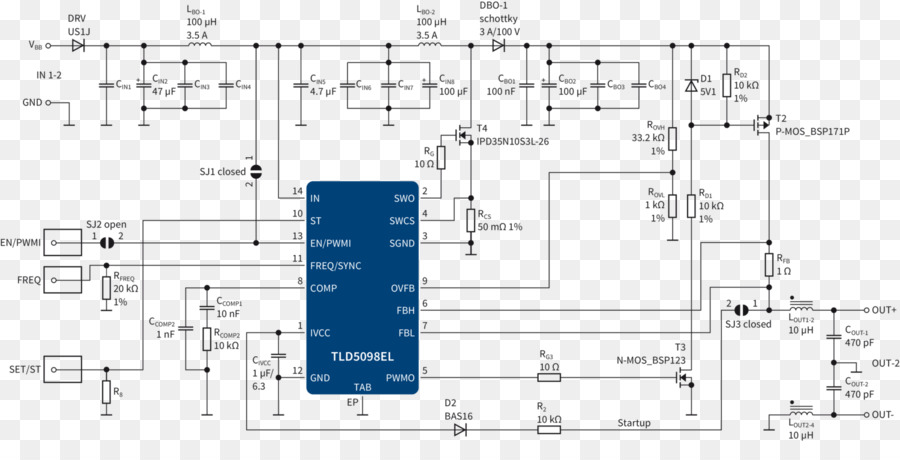 Circuit diagram Electronic circuit Integrated Circuits & Chips ...