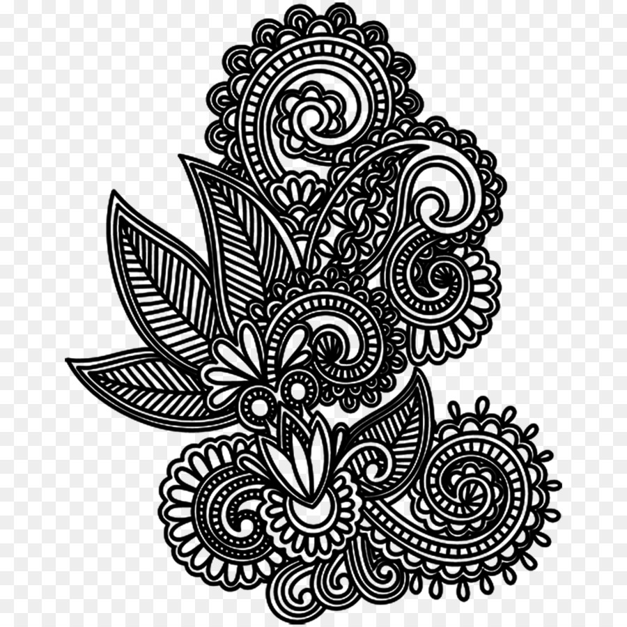 Drawing Tattoo Mehndi Design Png Download 1024 1024 Free