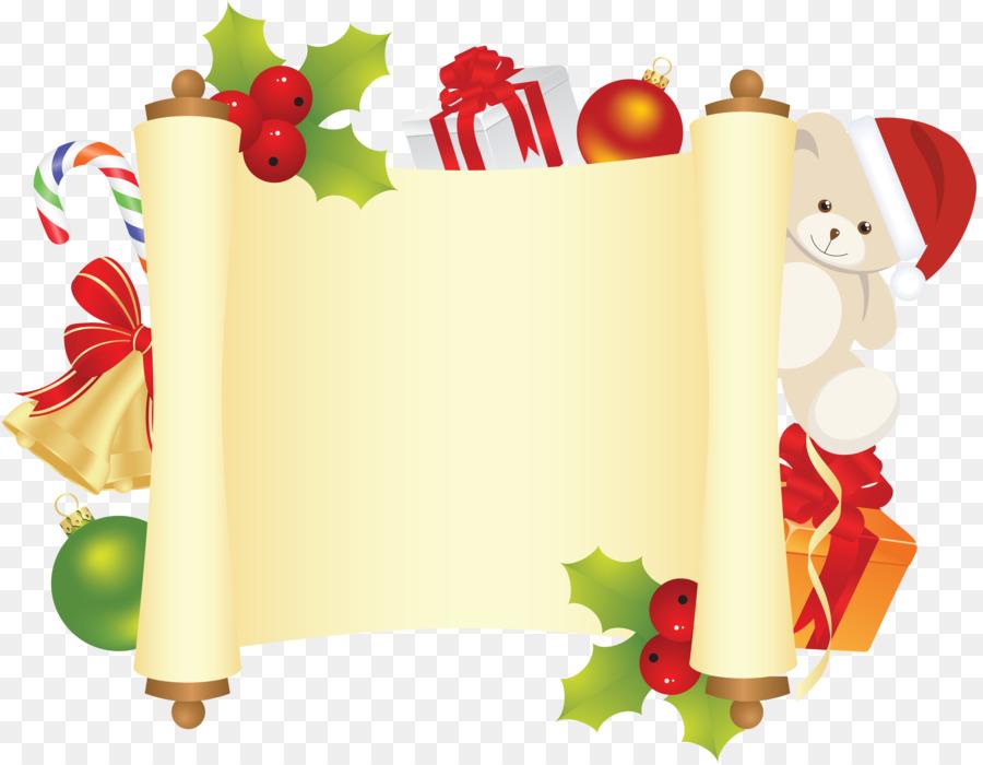 santa claus paper christmas clip art christmas border library