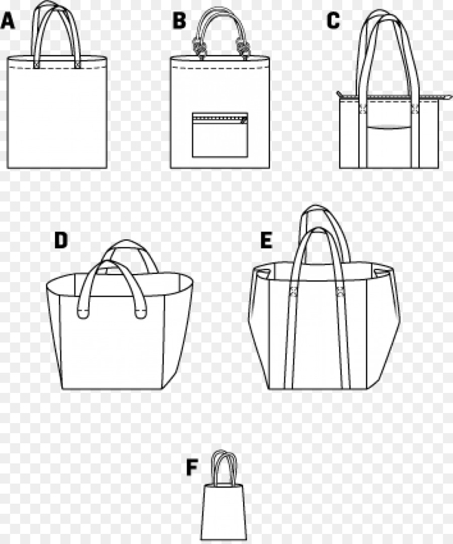 tote bag handbag burda style pattern bags template png download