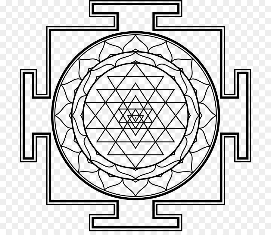 Sri Yantra Shiva Mandala Chakra Symbols Png Download 768768
