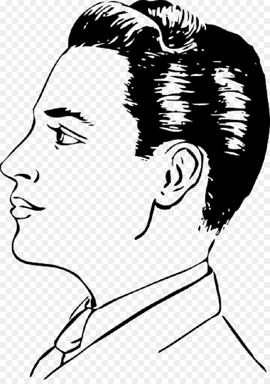 Drawing Face Clip Art Creative Men S Hairstyle 1024 1440
