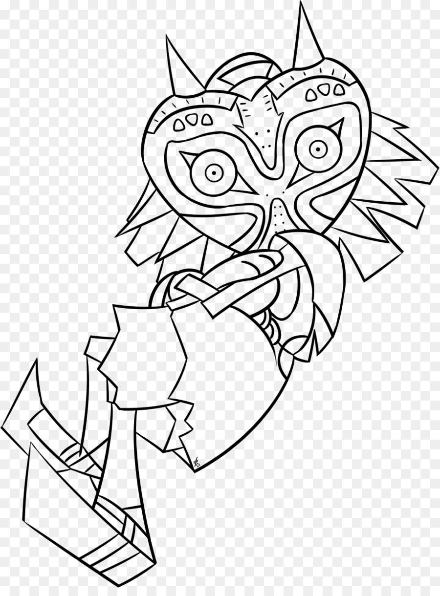The Legend of Zelda: Majora\'s Mask Coloring book Line art Drawing ...