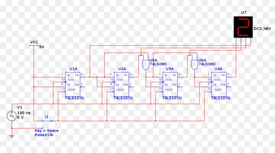 Circuito Flip Flop : Jk flip flop contador síncrono de circuito