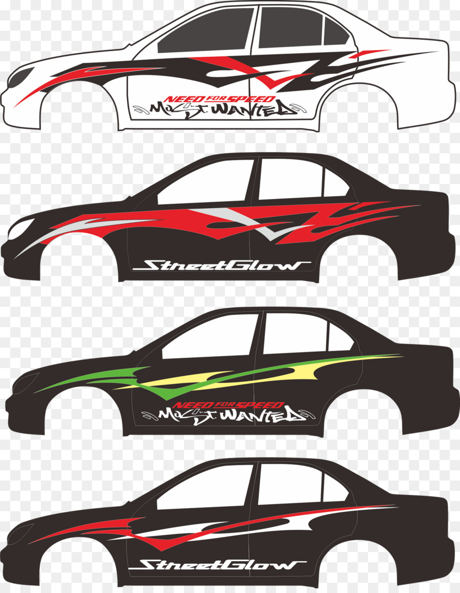 Toyota Corolla Stickers Design