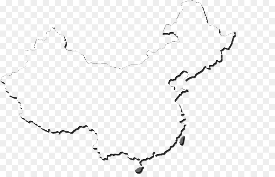 Flag Of China Blank Map Outline Chinese Wind Title Column Png