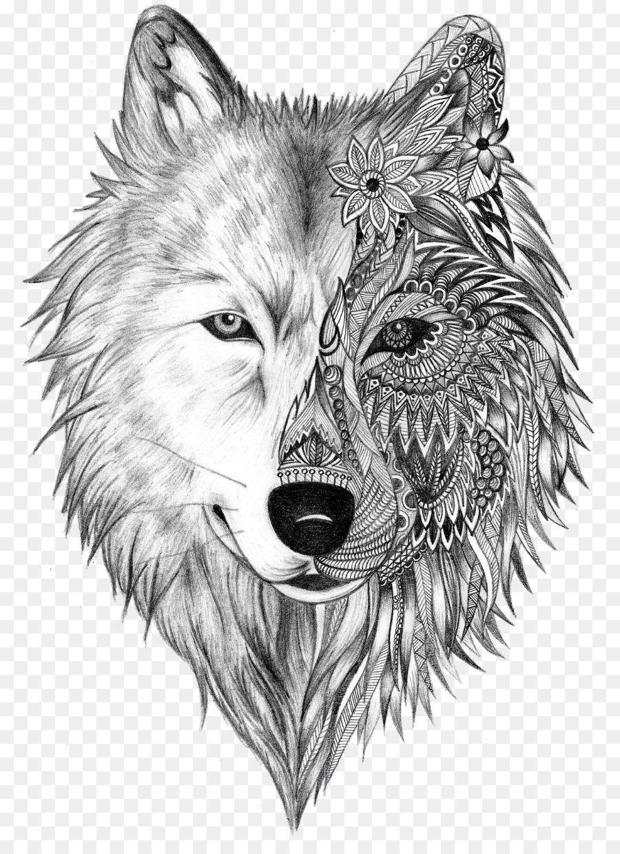 f19d626bd359e Tattoo artist Gray wolf Sleeve tattoo Tattoo ink - wolf heart png ...