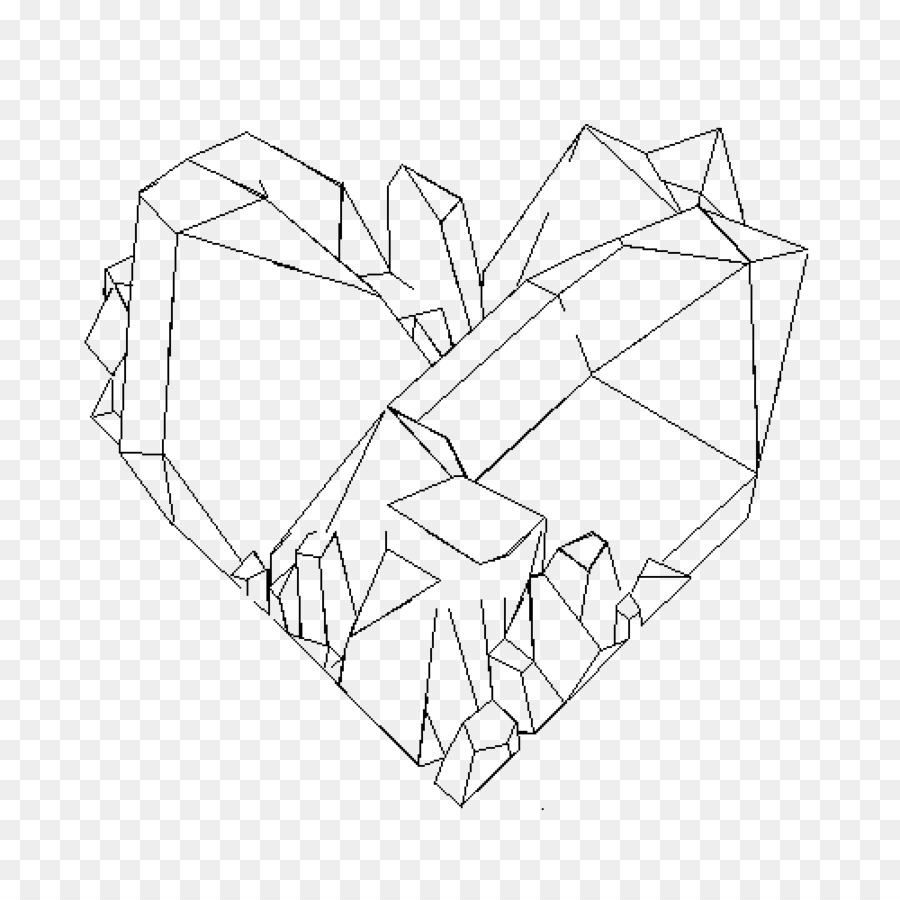 crystal drawing line art - crystal png download