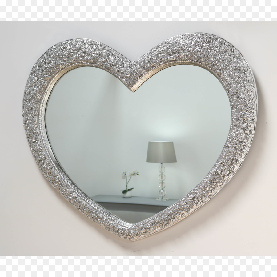 Mirror Picture Frames Heart Gold - heart-shaped material png ...