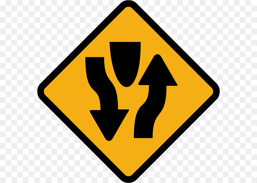 Traffic Sign One Way Traffic Road Two Way Street Road Png Download