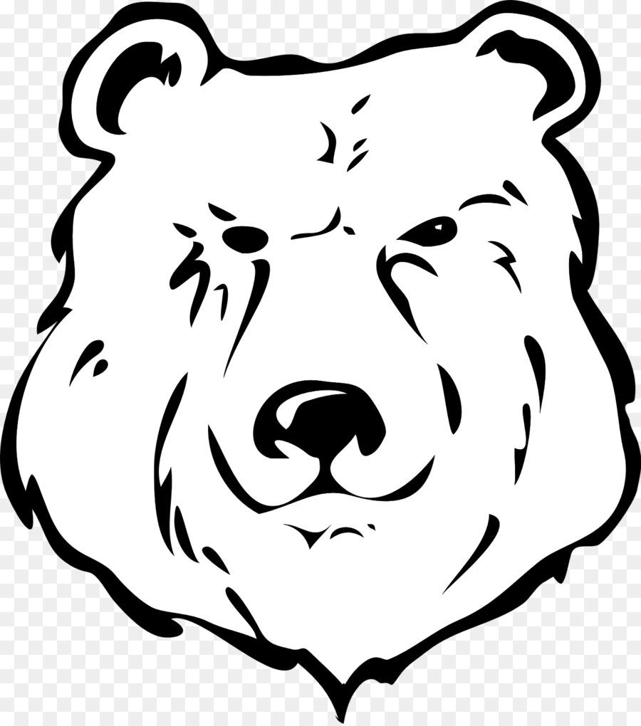 brown bear giant panda grizzly bear clip art bear head pattern png rh kisspng com