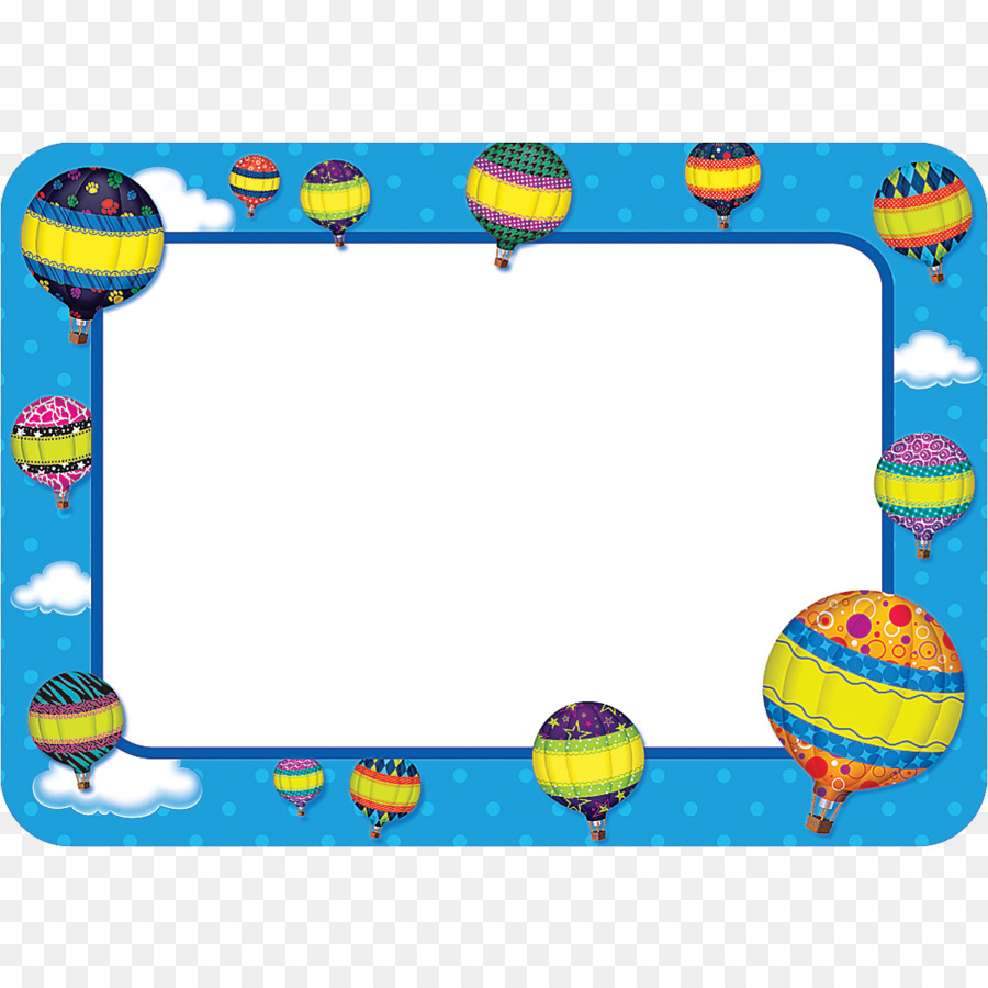 Name Tag Hot Air Balloon Sticker Clip Art Birthday Decorations Png