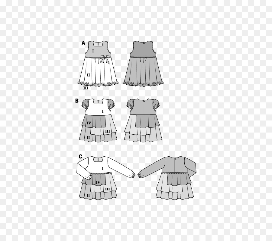 Clothing Burda Style Sewing Pattern - girls clothes pattern png ...